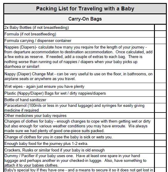 Traveling with a Toddler Checklist: Download yours here! - Flying ...