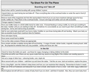 on the plane tip sheet