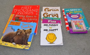 Sample books for toddlers on an airplane